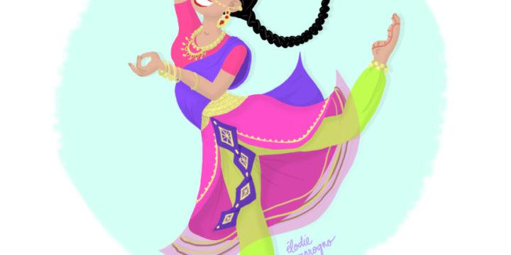 CDC Indian dancer, illustration