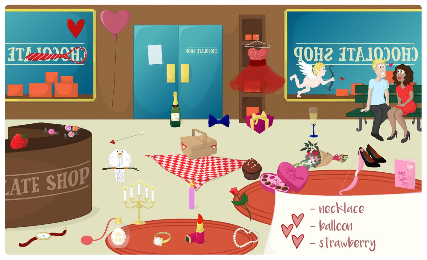 Illustration d'une série de jeux sur le thème des fêtes calendaires, SpeakyPlanet, 2016/2017.