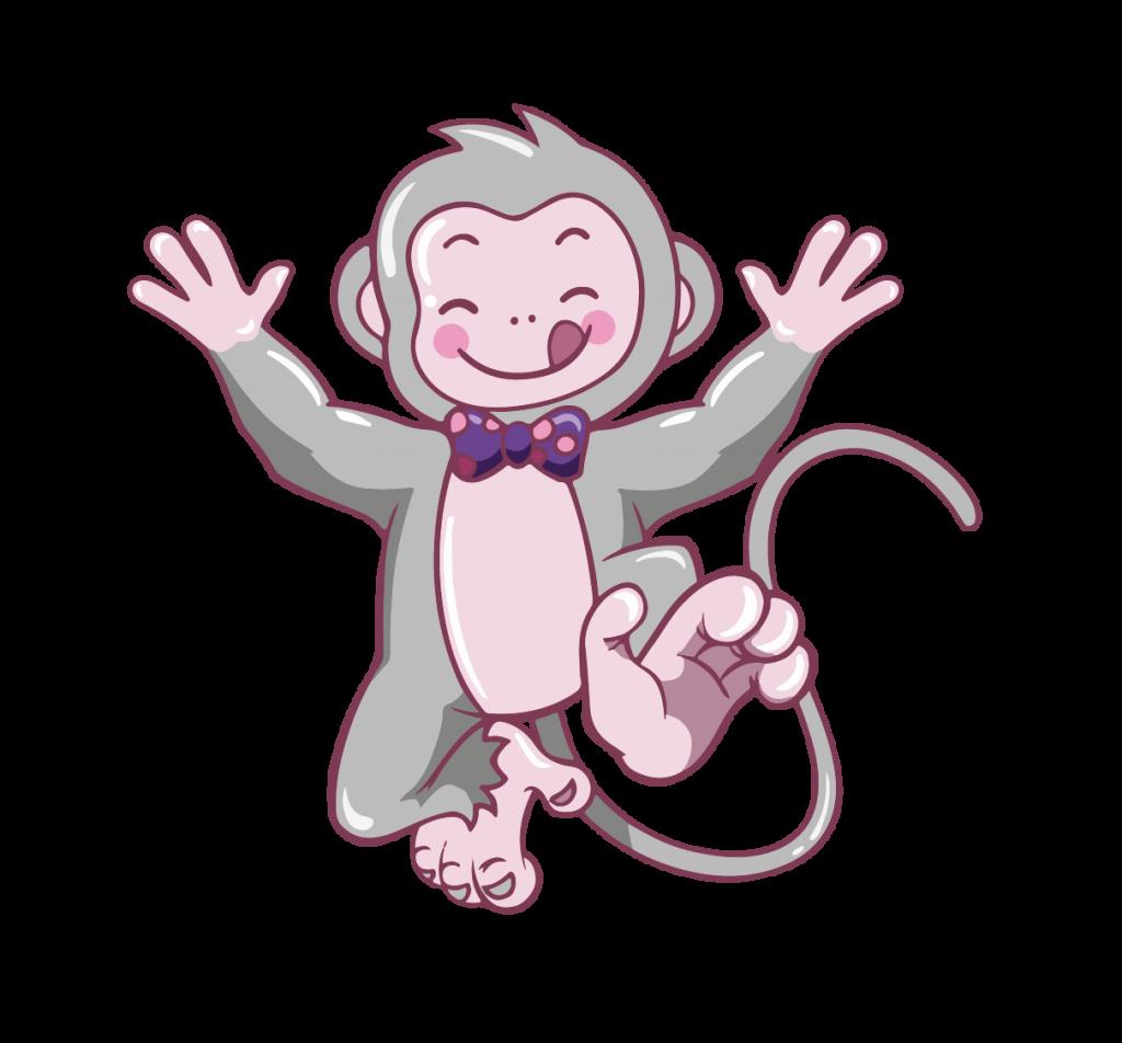 Image de la mascotte représentant un singe